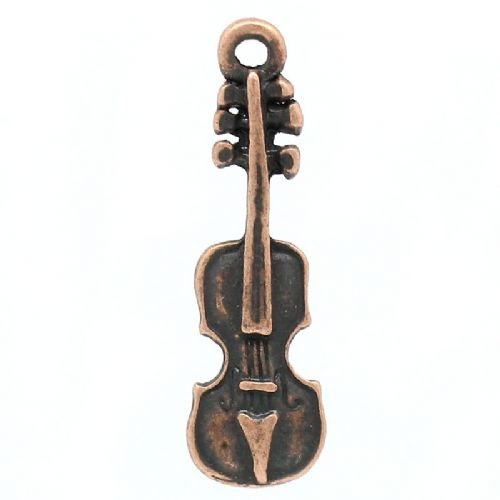 Copper Colour Charms - Violin (Pack of 10)